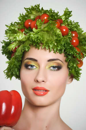 vegetable girl Stock Photo - 13817787