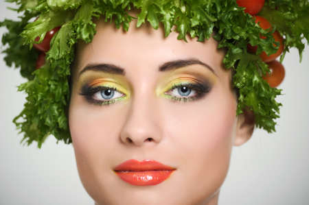 vegetable girl Stock Photo - 13817810