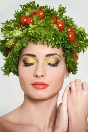 vegetable girl Stock Photo - 13817841
