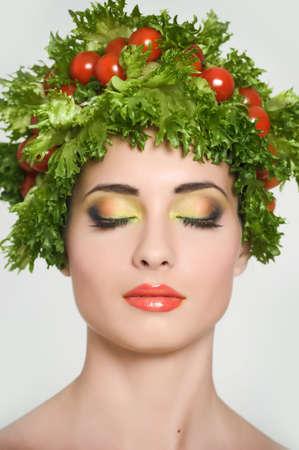 vegetable girl Stock Photo - 13817812