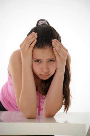 das M�dchen der Teenager ist ver�rgert photo