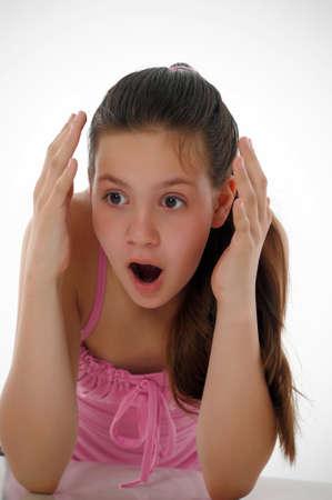 Shocked teen girl photo