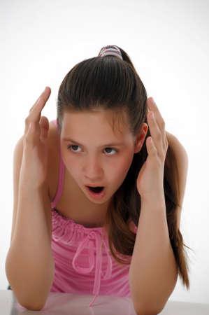 Shocked teen girl Stock Photo - 13817803