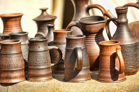 Handmade ceramic pottery photo