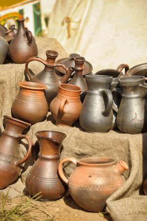 Main poterie en céramique Banque d'images