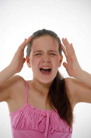 Angry pretty girl cries Stock Photo - 14329282