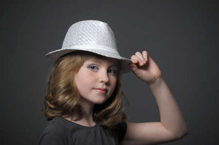 teen girl in a hat dancer Stock Photo - 21717288