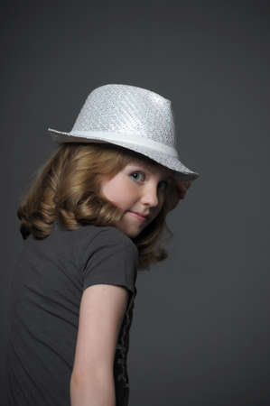 danced: teen girl in a hat dancer Stock Photo