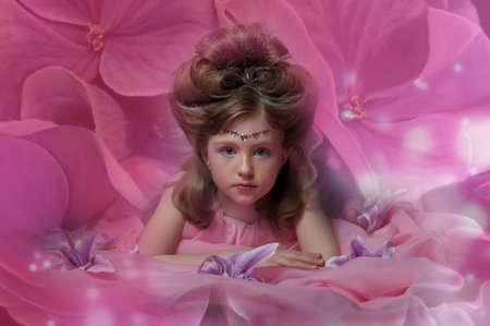 Beautiful little girl in princess dress Stock Photo - 15035070