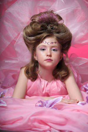 Beautiful little girl in princess dress