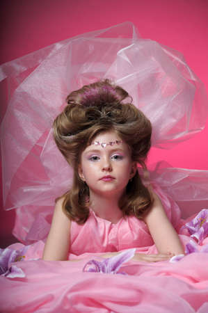 Beautiful little girl in princess dress Stock Photo - 15035026