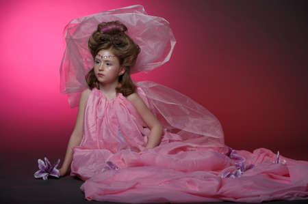 Beautiful little girl in princess dress Stock Photo - 15034984