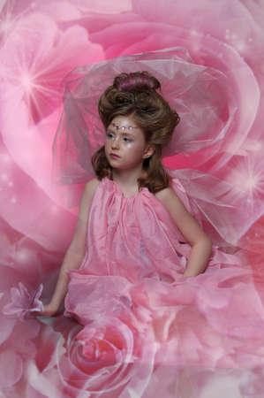 Beautiful little girl in princess dress Stock Photo - 15034983