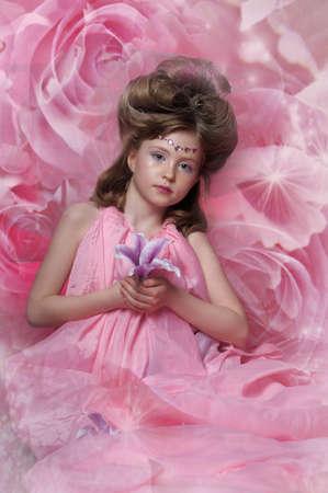 Beautiful little girl in princess dress Stock Photo - 15034982