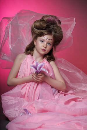 Beautiful little girl in princess dress Stock Photo - 15035236