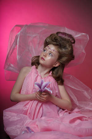 Beautiful little girl in princess dress Stock Photo - 15035025