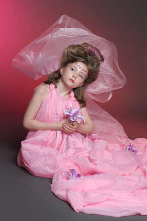 Beautiful little girl in princess dress Stock Photo - 15035234