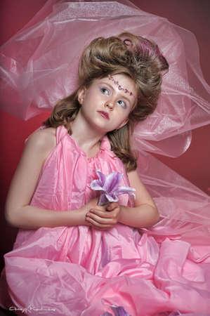 Beautiful little girl in princess dress Stock Photo - 15035248