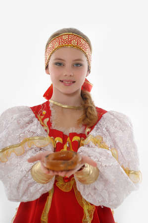 girl  In Russian Traditional Clothing Stock Photo - 14329946