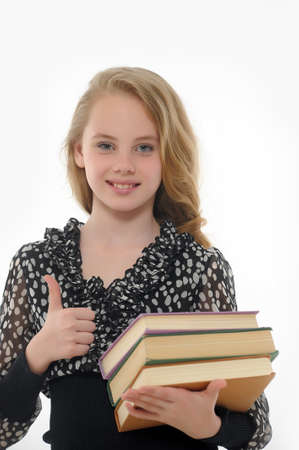 teenagers only: female student with books