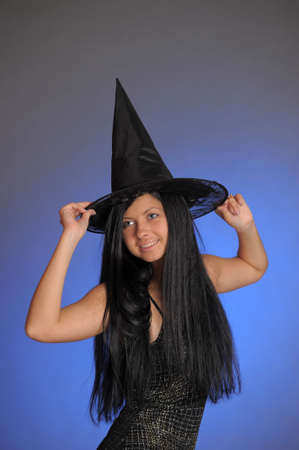 girl in a witch s hat Stock Photo - 14202863