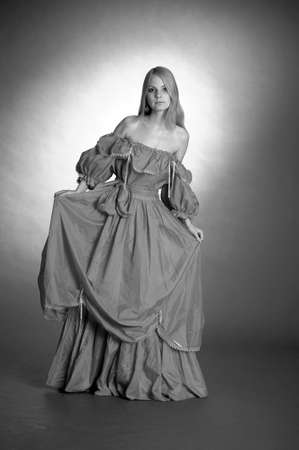 18th century style: the girl in an ancient dress Stock Photo