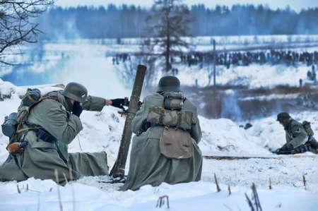 Reconstruction of a major military operation of the Leningrad Front - The January Thunder,  lifting of the blockade of Leningrad. Stock Photo - 14144999