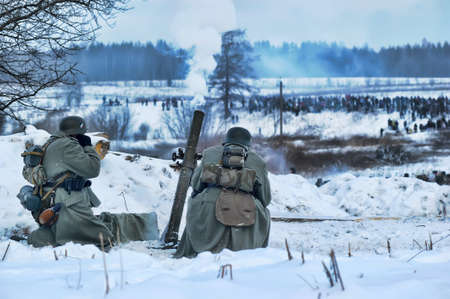 Reconstruction of a major military operation of the Leningrad Front - The January Thunder,  lifting of the blockade of Leningrad. Stock Photo - 14145019
