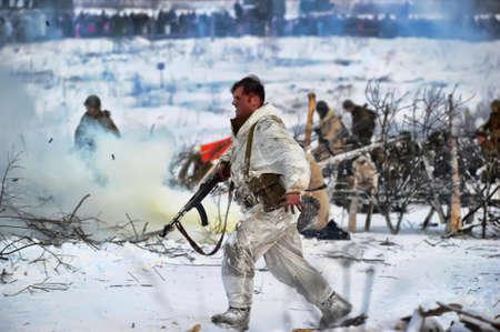Reconstruction of a major military operation of the Leningrad Front - The January Thunder,  lifting of the blockade of Leningrad. Stock Photo - 14144991