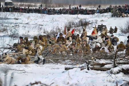 Reconstruction of a major military operation of the Leningrad Front - The January Thunder,  lifting of the blockade of Leningrad. Stock Photo - 14145029