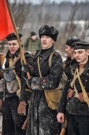 Reconstruction of a major military operation of the Leningrad Front - The January Thunder,  lifting of the blockade of Leningrad. Stock Photo - 14138518