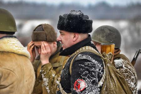 Reconstruction of a major military operation of the Leningrad Front - The January Thunder,  lifting of the blockade of Leningrad. Stock Photo - 14138487