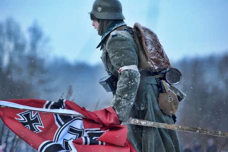Reconstruction of a major military operation of the Leningrad Front - The January Thunder,  lifting of the blockade of Leningrad. Stock Photo - 14136728