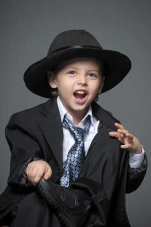 boy in suit and hat Stock Photo - 14092633