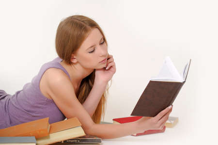 Beautiful young woman with book Stock Photo - 14106188