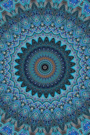 osmanisch: blau Osten Ornament