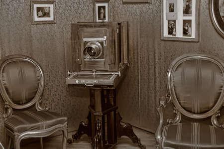 Wooden retro camera
