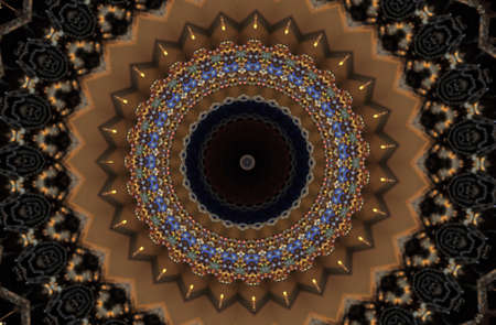 Oriental decoration in shades of brown photo