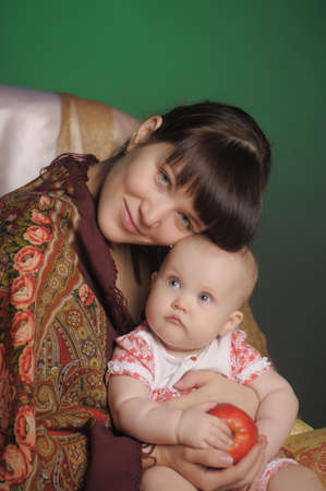 Russian woman with a child Stock Photo - 14107904