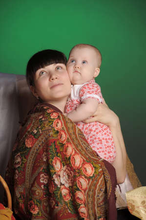 Russian woman with a child Stock Photo - 14107905