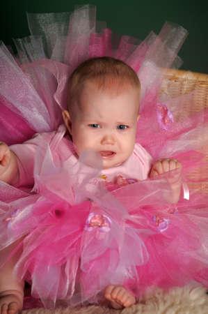 Little girl in a dress photo
