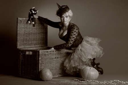 belonging to the caucasoid race: Halloween Witch