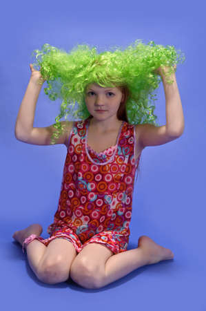 leprechaun's hat: girl in a green wig