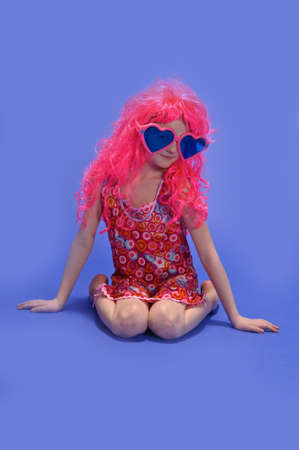 girl in a pink wig photo