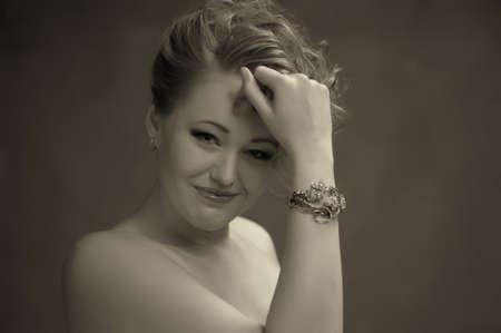 Retro jewelry woman Stock Photo - 14167129