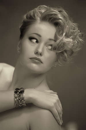 Retro jewelry woman Stock Photo - 14167130
