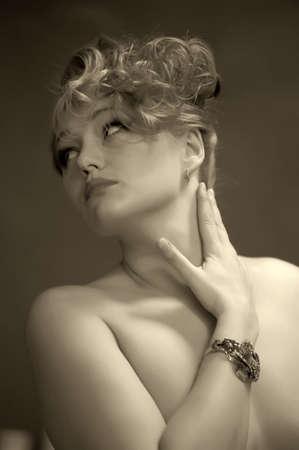 Retro jewelry woman Stock Photo - 14167131
