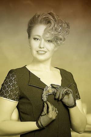 Retro jewelry woman Stock Photo - 14187124