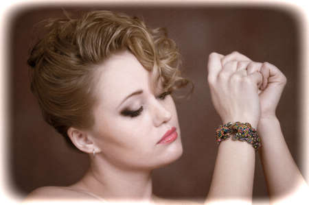 Retro jewelry woman  Stock Photo - 14187139