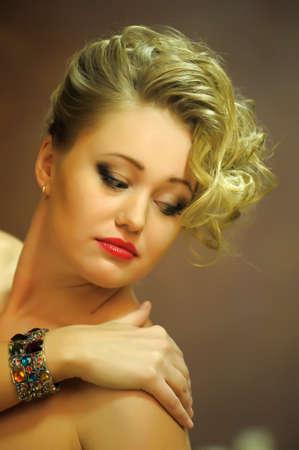 Retro jewelry woman Stock Photo - 14187100